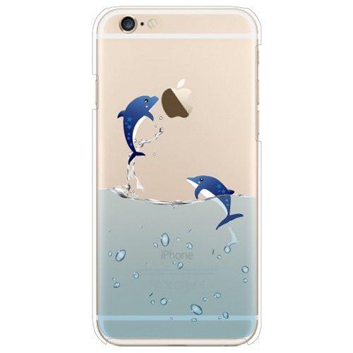 iPhone 6caso iphone 6s per cellulare Iphone 6PLUS, D & A Cute Cartoon/Dolphin/cane/pesce/Polar Bear Case in silicone e TPU per Apple iPhone 6iPhone 6S iPhone 6Plus, Silicone, Dolphin