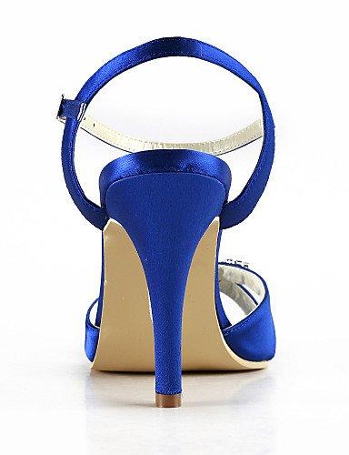 WSS 2016 Chaussures de mariage-Noir / Bleu / Jaune / Rose / Violet / Rouge / Blanc / Argent / Or / Beige / Amande-Mariage / Habillé / Soirée & 3in-3 3/4in-blue
