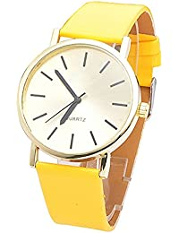 Sanwood Women's Faux Leather Band Wrist Watch