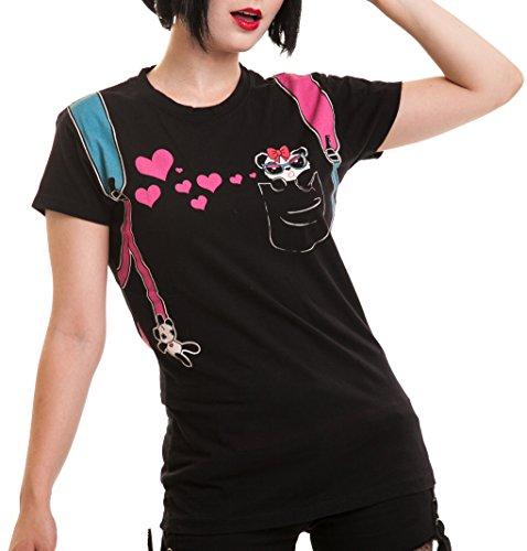 Killer Panda -  T-shirt - Donna nero X-Large