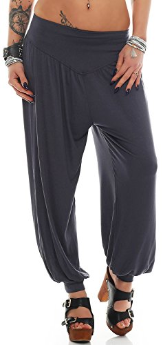 Yogapants in verschiedenen Farben Palazzohose Haremshose - S bis 4XL - Aladinhose Pumphose Yogahose Hose Yoga (Yogahose dunkelgrau Gr. L)