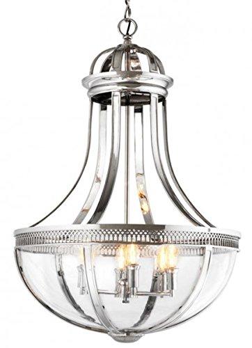 Casa Padrino Luxus Laterne - Luxus Nickel Hängeleuchte