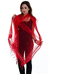 ooltah chashma Women's Dupatta(DUPT-074_Red_Free Size)