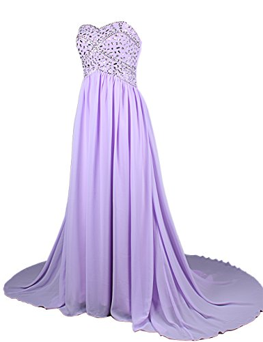 Dresstells, Robe de soirée Robe de cérémonie Robe de gala emperlée bustier en cœur traîne moyenne Blush