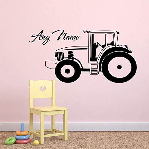 hllhpc Kühle ZN Auto Traktor Vinyl wandaufkleber Personalisierte Benutzerdefinierte Name Für Junge Hause Wohnzimmer kinderzimmer Dekorative wandkunst D60 * 30 cm (Personalisieren Die Sie Einladungen)