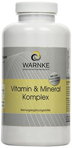 Warnke Gesundheitsprodukte Vitamin und Mineral Komplex, mit 18 Vitalstoffen, hochdosiert, 250 Kapseln, Großpackung, vegi, 1er Pack (1 x 291 g)
