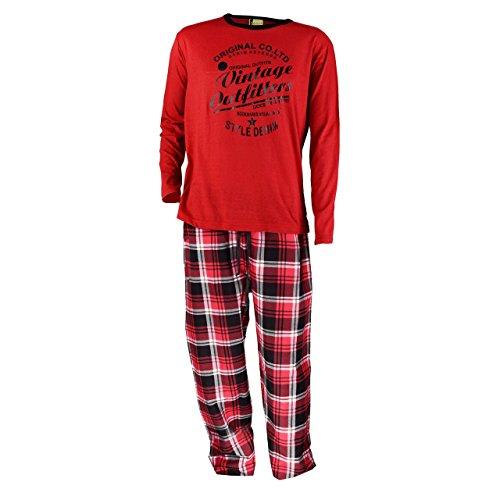 Hombre-franela-Pijama-en-rojo