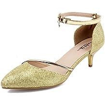 AgeeMi Shoes Womens Sin Cordones Cequí Plano de Salón