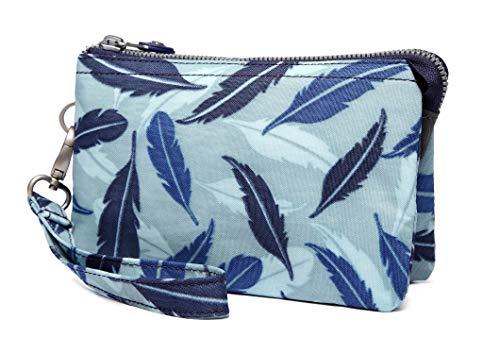 Crest Design Damen Geldbörse/Clutch, wasserabweisend, mit Handschlaufe, Blau (Blue Feather), Einheitsgröße - Design-clutch Geldbörse