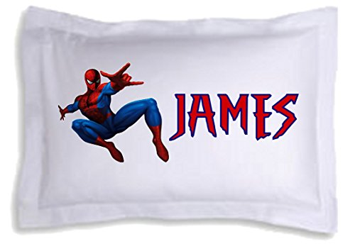 Image of Personalised Spiderman Pillow Case Great Birthday or Christmas Gift