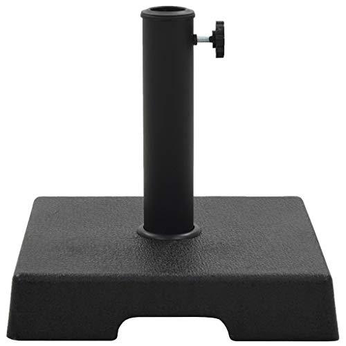 Tidyard Socle Carré de Parasol | Base de Parasol | Support de Parasol | Pieds de Parasols Polyrésine 8 kg Noir