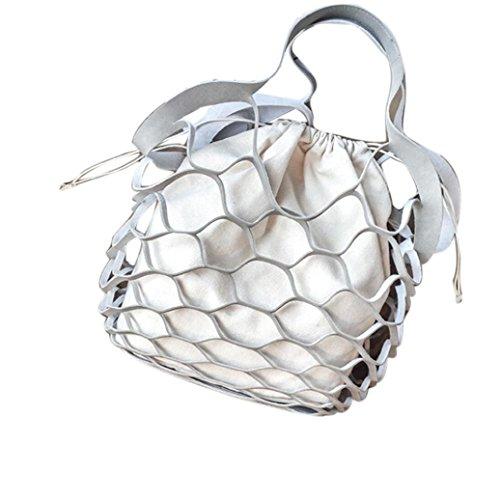 Canvas Bag Vita, Le Donne Vuote Consegnato Netbath Benna Borsa Casuale Tote Bag Borse Grande Spalla by Kangrunmy Grigio