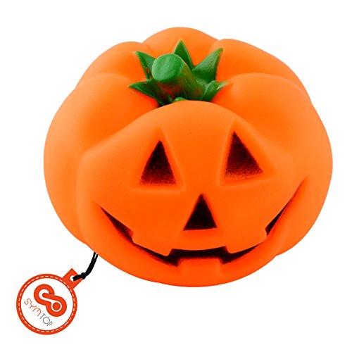 HALLOWEEN Juguete de Goma Calabaza Pumpkin para Masticar para Mascotas con Sonido