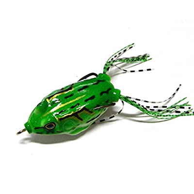 Hrph 6 Pcs Frog Lure 5.5cm/12g Fishing Lures Bass Soft Frog Crankbaits Top Water Fish Tackle Hook Artificial Baits by Hrph