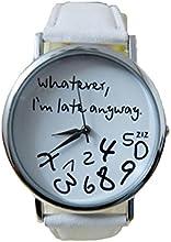 Relojes Pulsera Mujer,Xinan Reloj de cuero Letra Relojes Nueva