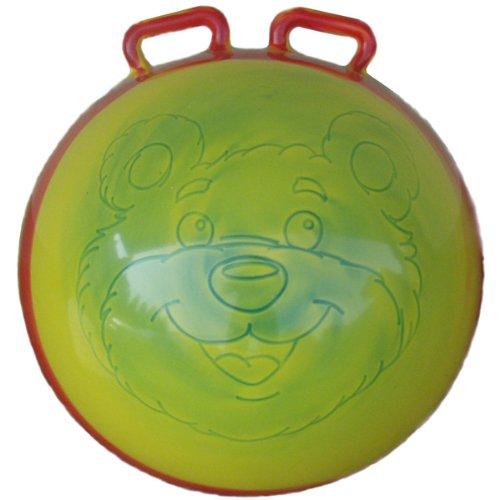 Hüpfball, sort Kinder Sprungball Hopser mit Griffe Hörnern Springball Gummiball Hopsball 45 cm mit Griffen