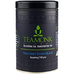 TeamonkGlobal Vasa First Flush Black Tea| Darjeeling | 100 grams/ 3.5 oz | 50 cups | Pure Organic Black tea