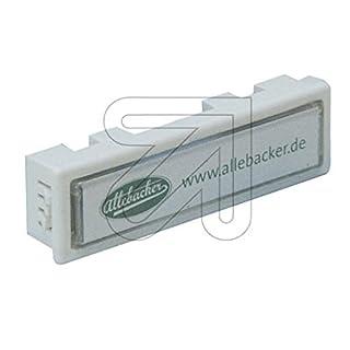 Allebacker 10er Pack Namensschild Weiss 00AW-NS-80018