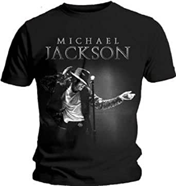 Michael Jackson - - This Is It Schnappen Herren Kurzarm T-Shirt in schwarz, Small, Black