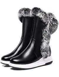 202e5808dee Martin boots Botas De Nieve De Piel De Conejo De Fondo Grueso. Botas De  Piel Caliente. CuñAs En Las Botas De Invierno Blancas De Cabeza…