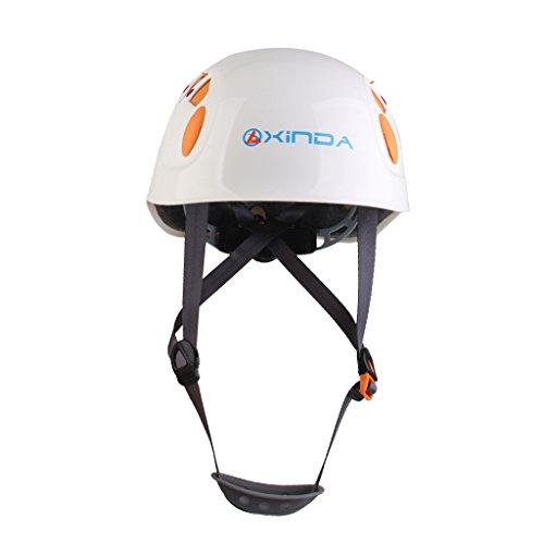 Helm Abseilen (Bergsteiger Helm Outdoor Sicherheits Klettern Abseilen Schutz Weiss)