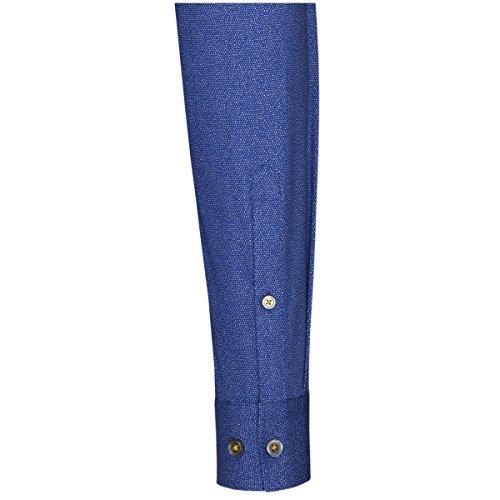 SEIDENSTICKER Herren Hemd Slim 1/1-Arm Bügelleicht City-Hemd Kent-Kragen Manschette weitenverstellbar Blau