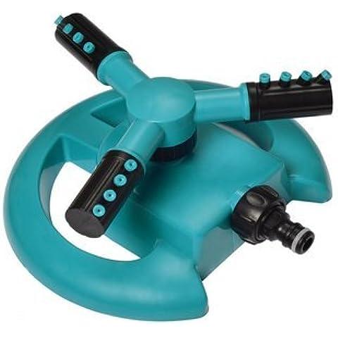 aogolouk Lawn Sprinkler Acqua intero Irroratore Circolare resistente Rotary tre Braccio Irrigatore Oscillante senza sistemi rifiuti