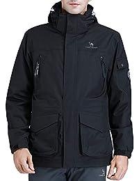 CAMEL CROWN Chaquetas Cortavientos Hombre Invierno, 3 en 1 Impermeable Chaqueta de Esquí de Lana Abrigo Deportivo para Senderismo…