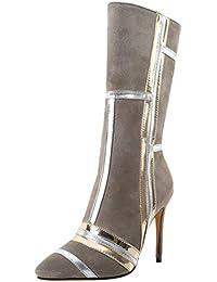 JYshoes Stiletto Stiefel High Heels Stiefeletten mit Reißverschluss Damen  Ankle Boots Kurzschaft… e093e166e3
