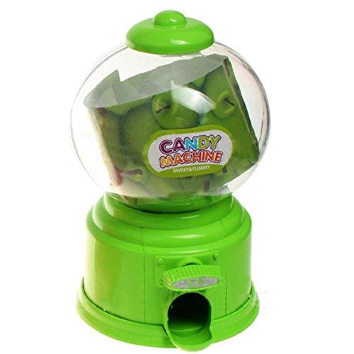 Gosear Mini Máquina Expendedora de Habas de Jalea Chicles Gomitas Azúcar Caramelo de Gumball / Dispensador de Snack para Novedad Fiesta Cumpleaños Regalo Juguetes para Niños,Verde