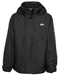 Trespass Skydive Kids' 3-in-1 Waterproof Jacket - Black, Size 2/3