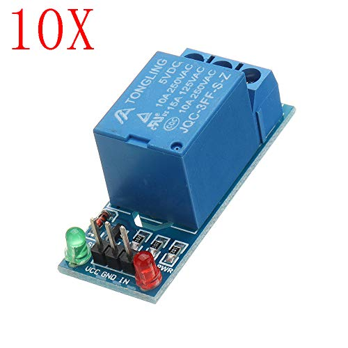ILS - 10 Stücke 5V Low-Level-Trigger EIN 1-Kanal-Relais-Modul Interface Board Schild DC AC 220 Relais-interface-modul