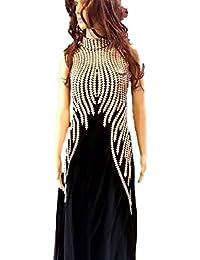 Karishma Women's Georgette Dress Material (SDM 36 [KC_1026]_Free Size_Black)