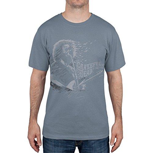 Grateful Dead-hemd (Grateful Dead Herren Freizeit-Hemd Gr. Medium, Blau - Blau)