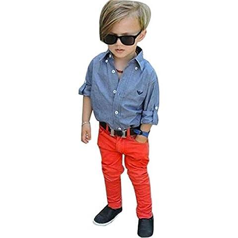 Garçons ensembles de vêtements, Yogogo enfants Handsome Denim T-shirt +