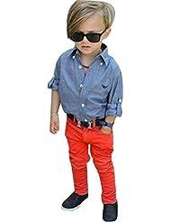 Garçons ensembles de vêtements, Yogogo enfants Handsome Denim T-shirt + Denim Pantalons Tenues