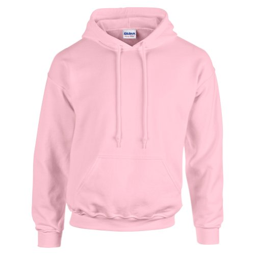 Gildan Hooded Sweatshirt Heavy Blend Plain Hoodie Pullover Hoody Light Pink M