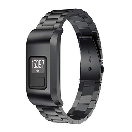 NotoCity Kompatibel mit Garmin Vivofit 3 Edelstahl Uhrenarmband für Garmin Vivofit 3 Fitness-Tracker Unisex