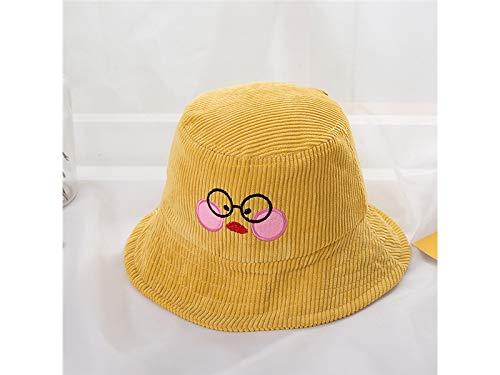 Weiche Eimer Hut (Young shinee Kinder Hut Kinder Küken Eimer Hut Kinder Sonnenschutz Cap Packable weiche Baumwolle Hut für 2-6 Jahre alt (gelb) Kleinkind Mütze (Farbe : Yellow, Größe : 50-52cm))