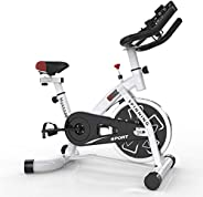 Indoor Exercise Bike,Silent Belt Drive, Ipad Mount, Comfortable Cushion, Suitable For Home Fitness Cycling Bik