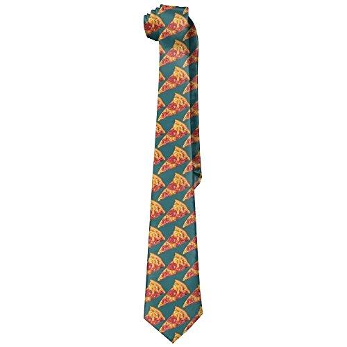 Ham Pizza Gentleman Cool Fashion Tie Classic Stripe Men's Necktie