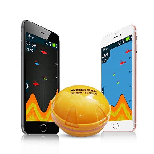 CICIN Bluetooth Intelligente visuelle High-Definition-Sonar Fish Finder, Unterwasser Wireless Fish Finder Handheld-fishfinder