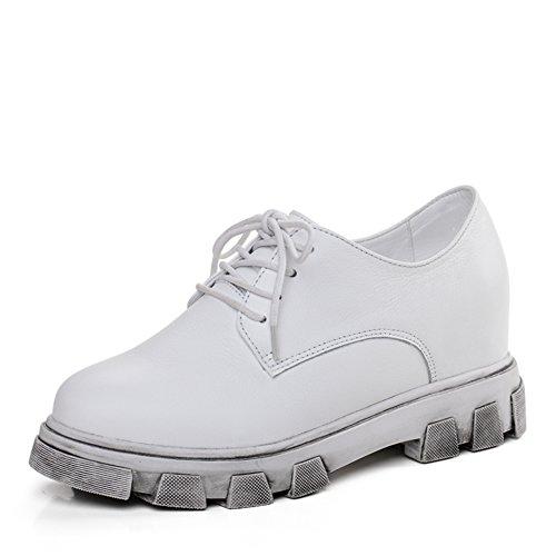 Femmes Occasionnels Chaussures De Printemps,A Augmenté Dans Les Mocassins Coréennes, Chaussures Plates Femmes,Plate-forme Chaussures En Cuir B