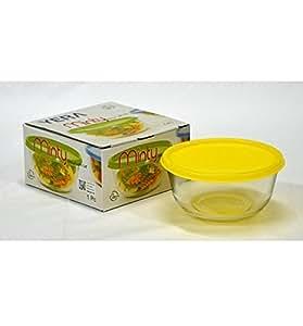 Yera Glassware Minty Bowl with Lid , 1 piece