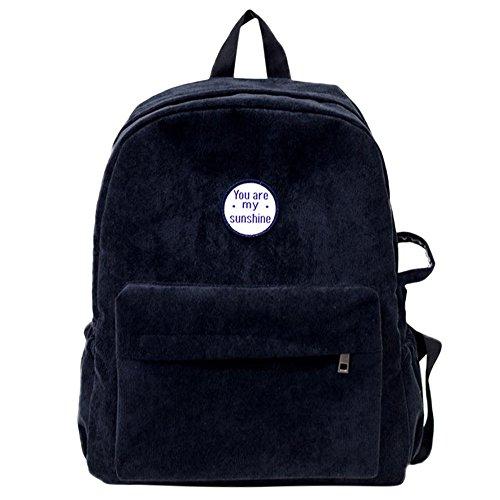 Imagen de esailq bolsos  de universitarias escolares mini casual para mujer niñas estudiantes. negro