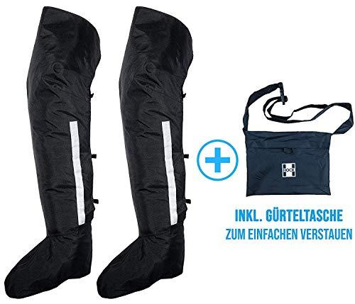 HOCK Regengamaschen Überschuhe Extra Lang - Die Praktische Alternative zur Regenhose - 100% Wasserdicht - Schutz vor Schnee und Regen beim Radfahren - M