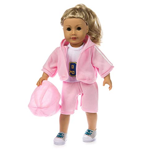 Sport Kostüm Barbie - Zolimx Mädchen Spielzeug Puppenbekleidung, 4 PC Sport Freizeitanzug Lifestyle Sportswear-Anzug für 18-Zoll-American Doll Zubehör