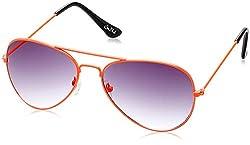 Joe Black Aviator Sunglasses (Orange and Black) (JB-999 C19 55)