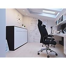 Cama plegable de 90cm horizontal color wengué/blanco cama plegable & cama de pared SMARTBett sin colchón