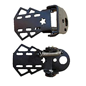 417TOgj 6RL. SS300 1 paio posteriore della bici pedali della bicicletta pieghevole spina del piede metallo poggiapiedi per bambini adulti Accessori Biciclette